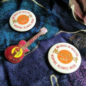 Vintage Hard Rock Cafe pins for your Denim Jacket